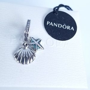 Pandora Tropical Starfish & Sea Shell Dangle Charm